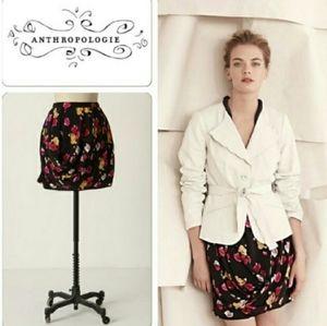 Dolan Floral Silk Skirt